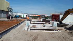 Nieuwbouw opslagsilo Ecocem