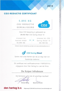 Duurzamer werken met CO2 Saving Diesel
